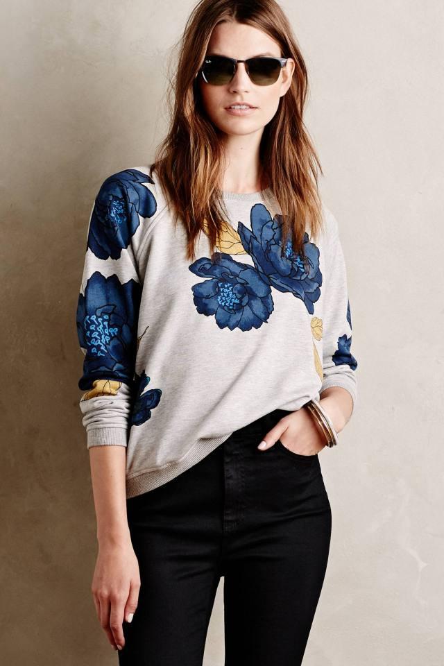 Emblazoned Blooms Sweatshirt
