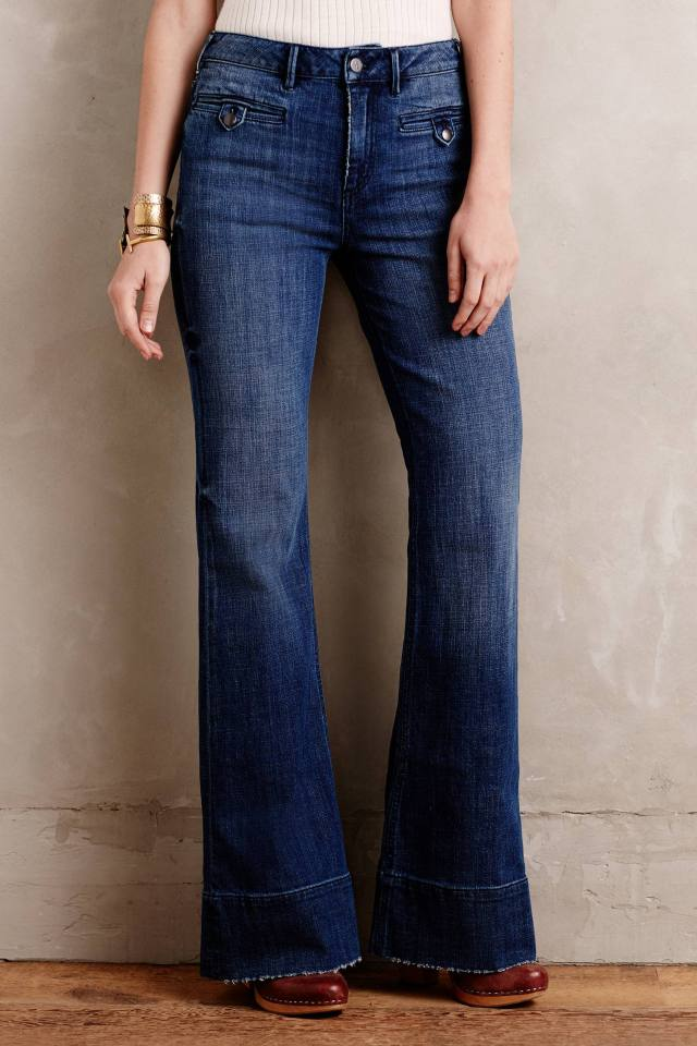 Superscript High-Rise Flare Jeans by Pilcro