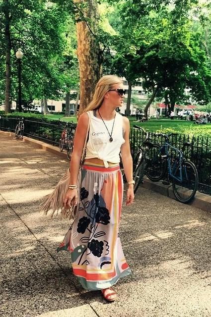 Plein Air Maxi Skirt by Maeve