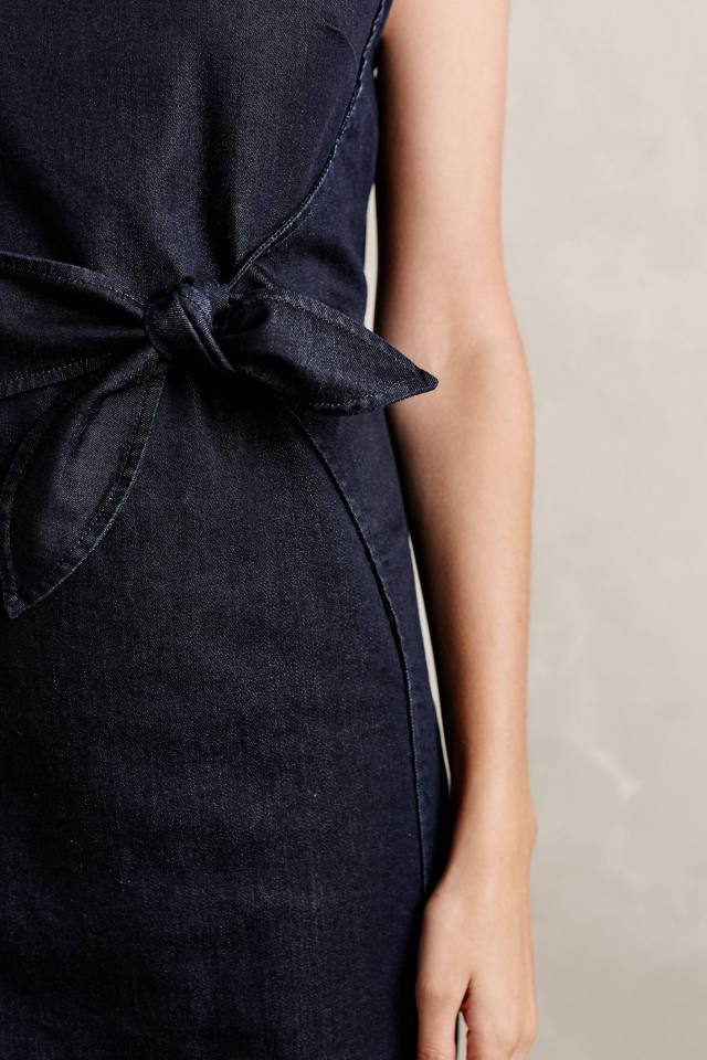 Ribboned Denim Dress by Holding Horses