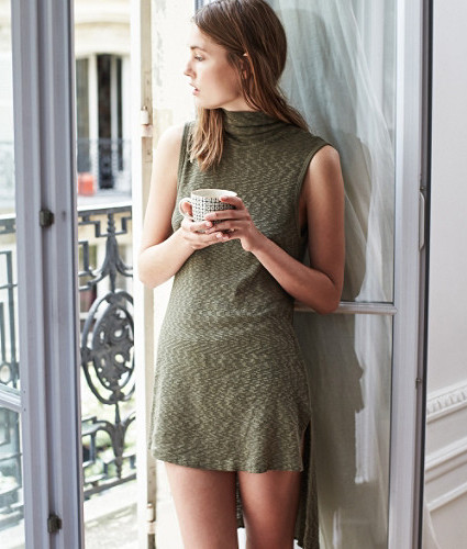 High-Low Turtleneck Tunic by Left of Center