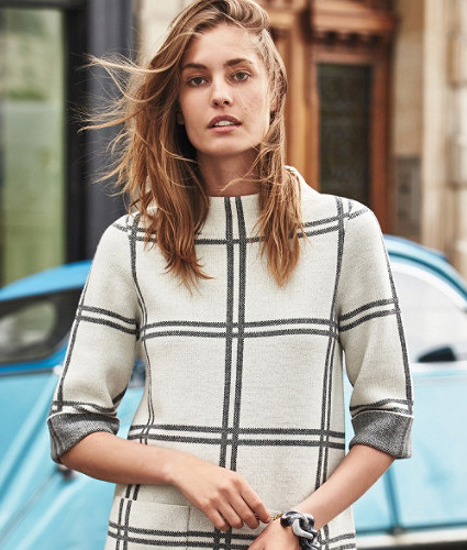 Paned Sweater Tunic by Moth