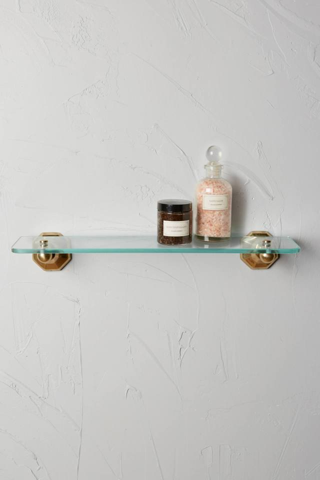Brass Circlet Bathroom Shelf