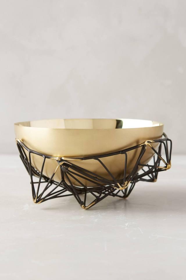 Caged Brass Bowl