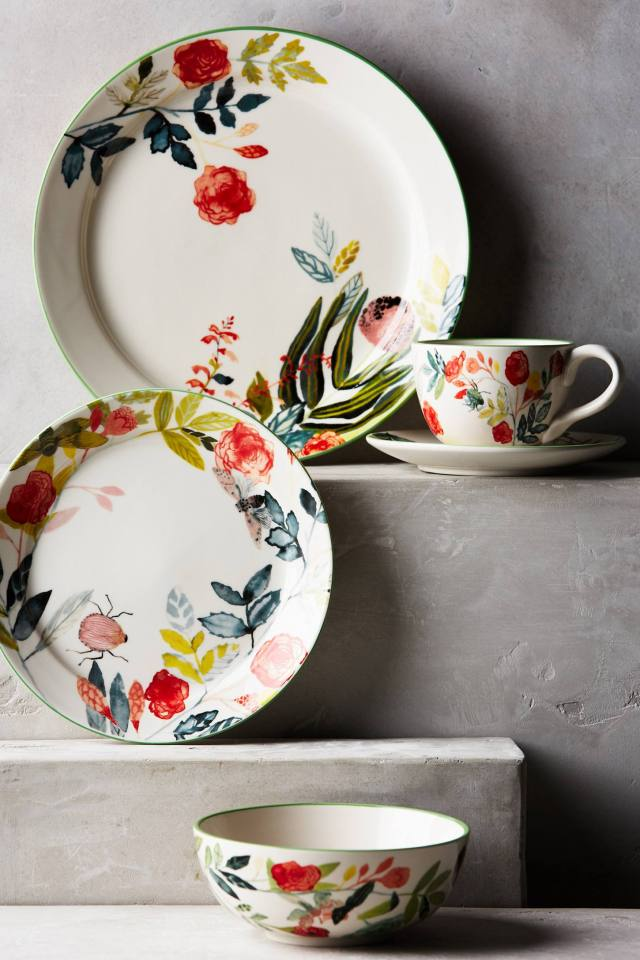 Climbing Rose Dinnerware by Michelle Morin
