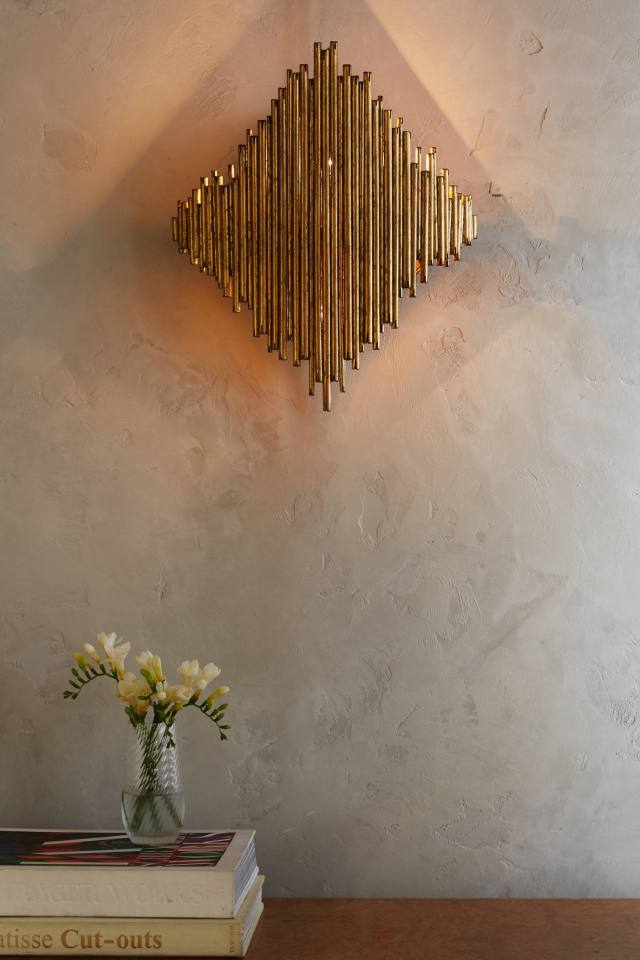 Diamond Goldleaf Sconce