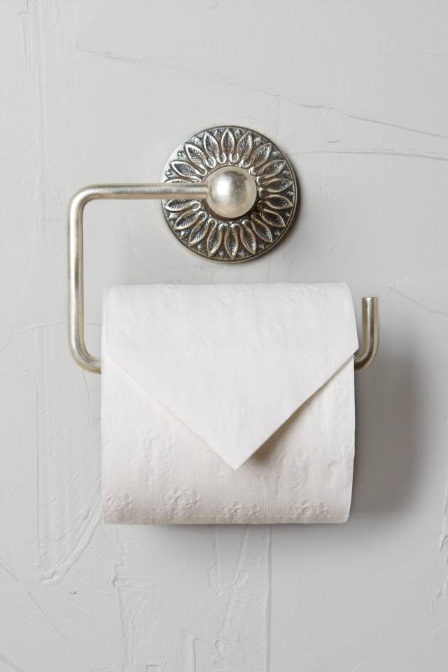 Floral Imprint Toilet Paper Holder