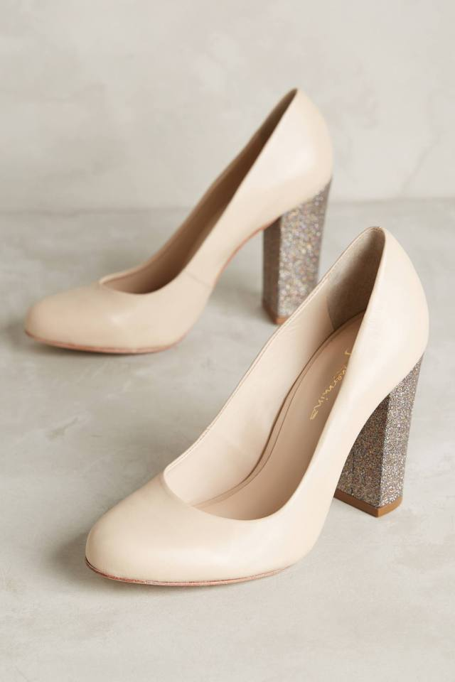 Glitter Heel Pumps by Guilhermina