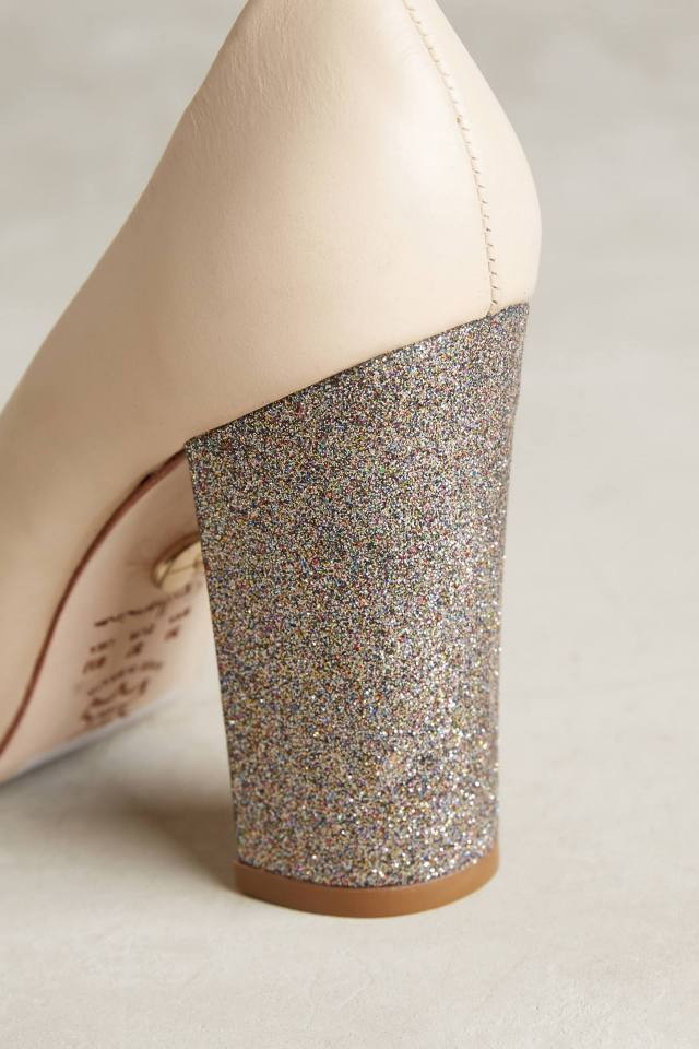Glitter Heel Pumps by Guilhermina