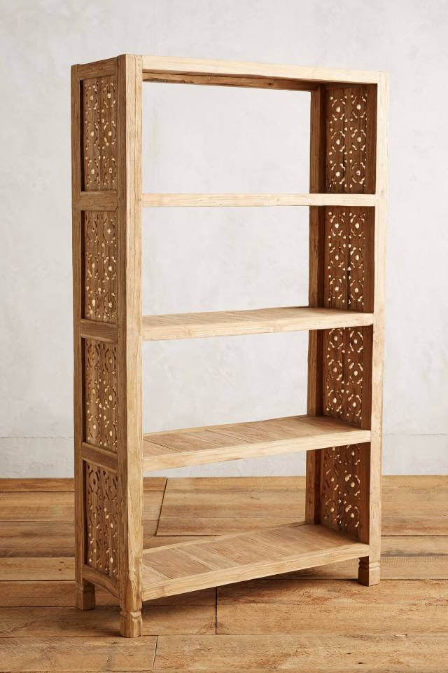 Handcarved Fretwork Bookcase