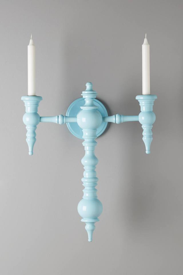 Painted Intercross Sconce