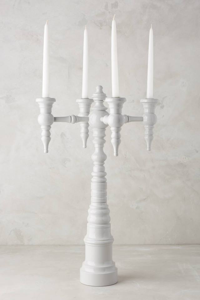 Painted Quadrant Candelabra