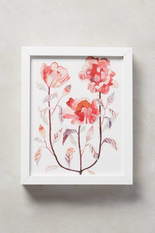 Peony Triad Wall Art by Michelle Morin