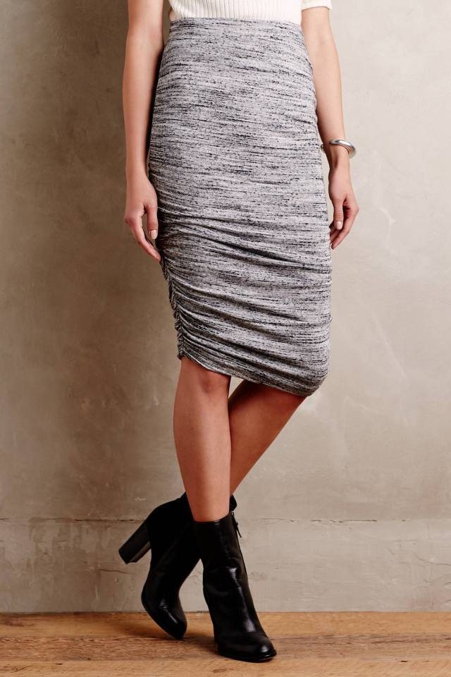 Ruched Pencil Skirt by Splendid