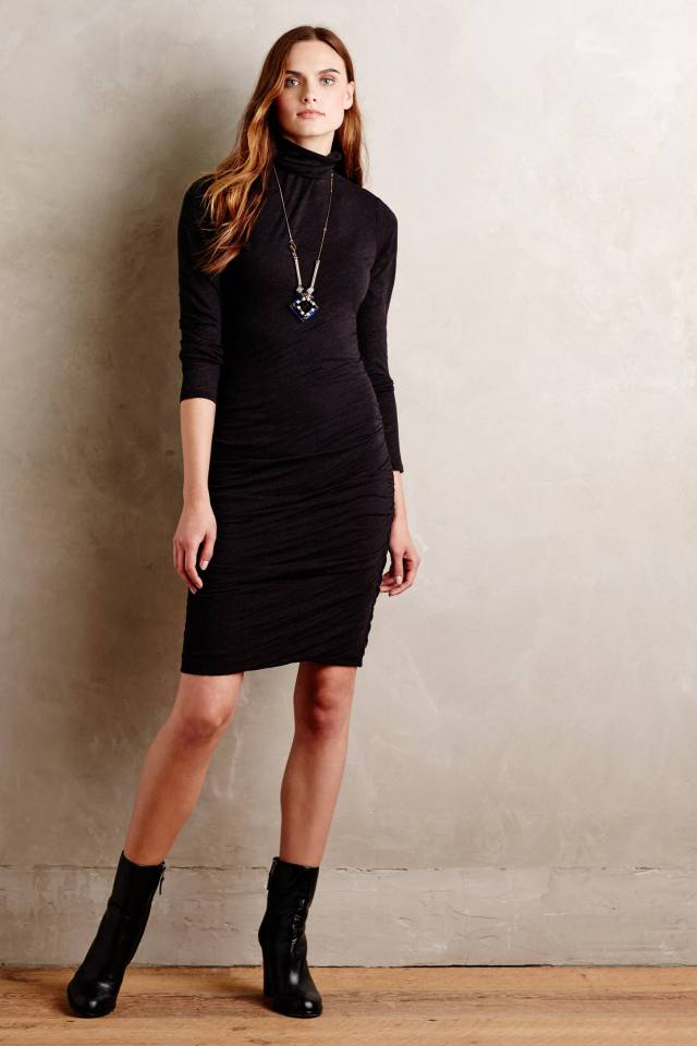 Shaded Turtleneck Dress by Velvet by Graham & Spencer