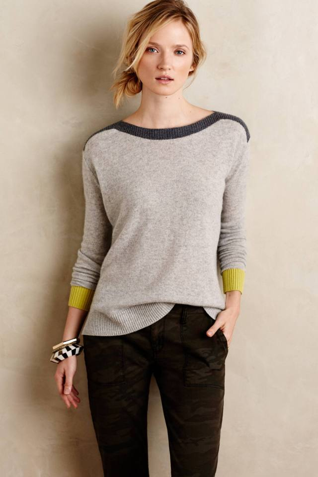 Sunstripe Cashmere Pullover by Needle