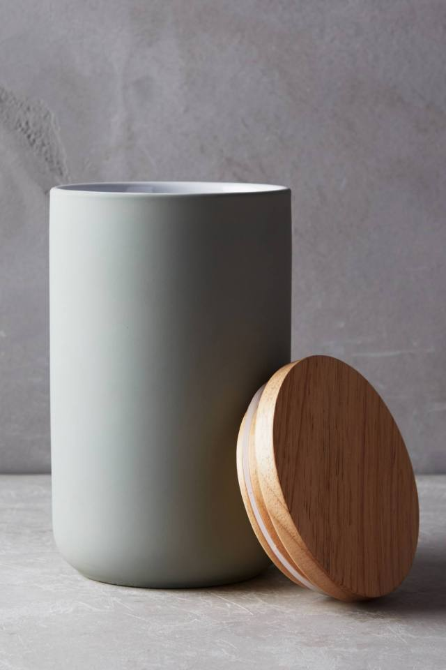Wood-Topped Canister