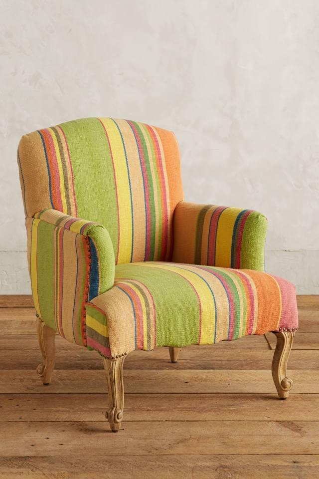 Cotton Dhurrie Dorrance Chair