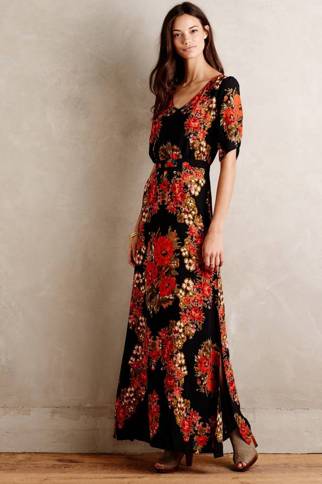 Wreathed Maxi Dress by Paper Crown