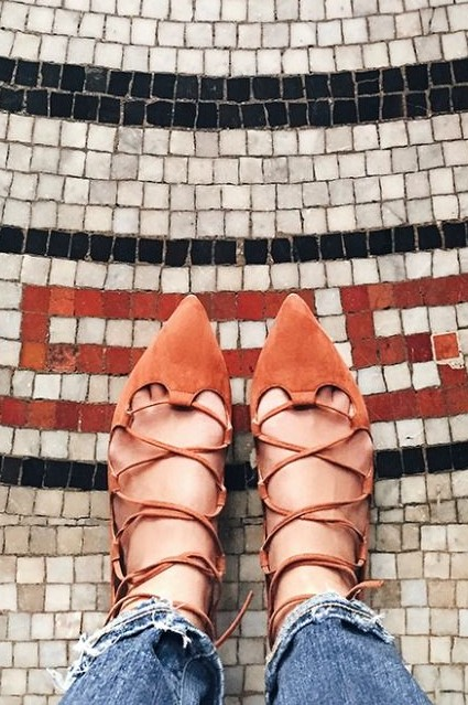 Lace-Up Flats by Billy Ella