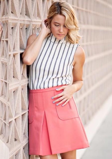 Cheri Mini Skirt by Maeve