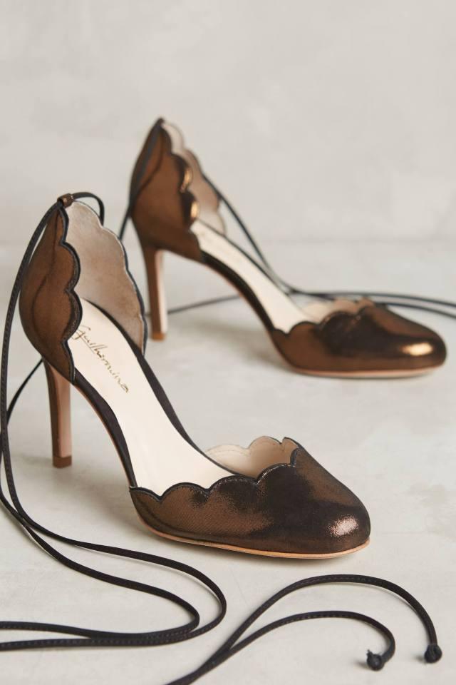 Gilded Python Heels by Guilhermina
