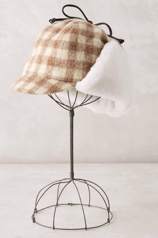 Checkered Deerstalker Cap by Eugenia Kim