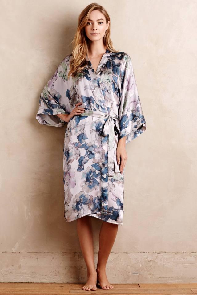 Iris Silk Kimono by Samantha Chang