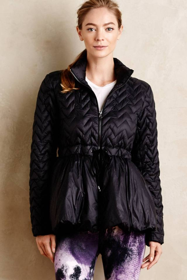 Peplum Puffer Jacket by Vimmia