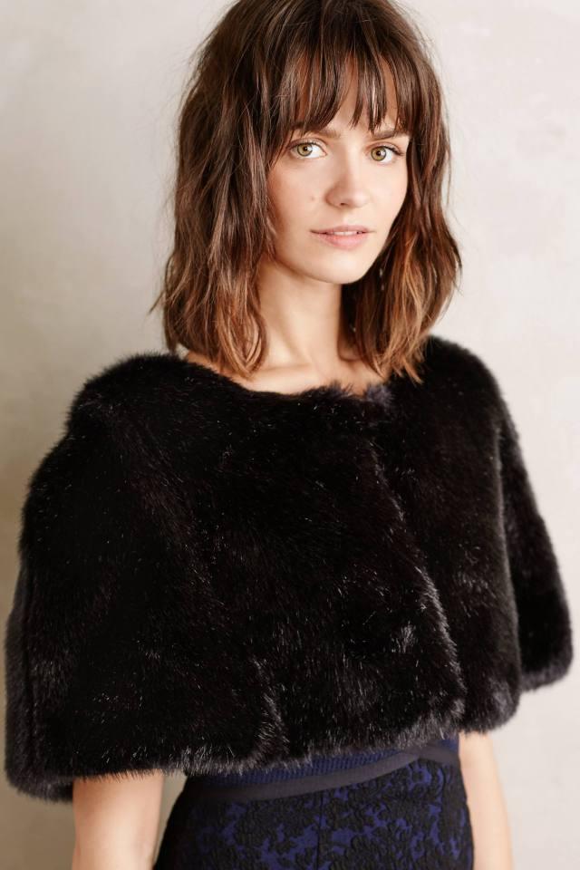 Akilina Faux-Fur Shrug
