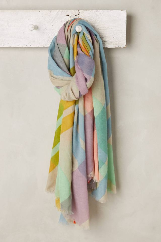 Pastel Plaid Scarf by Moismont