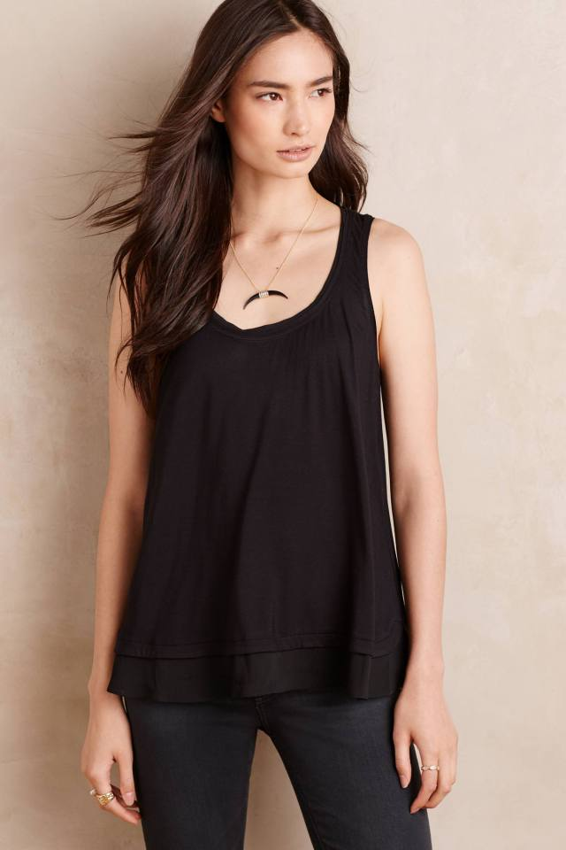 Chiffon-Trim Swing Tank by Eloise