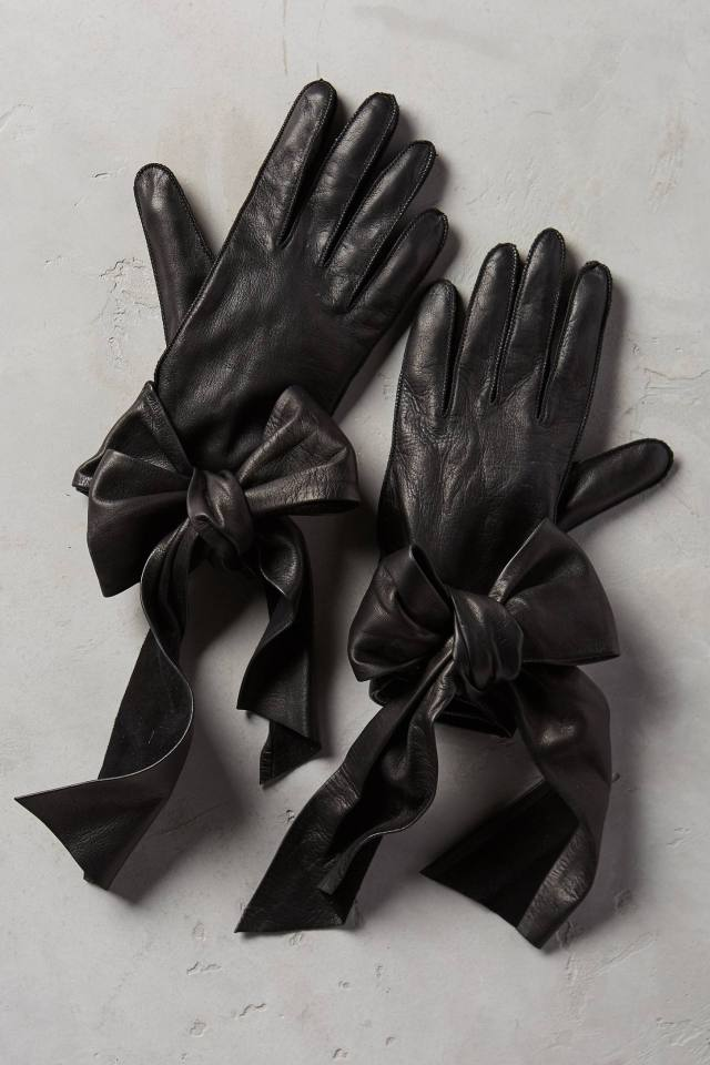 Streaming Bow Leather Gloves by Yestadt Millinery