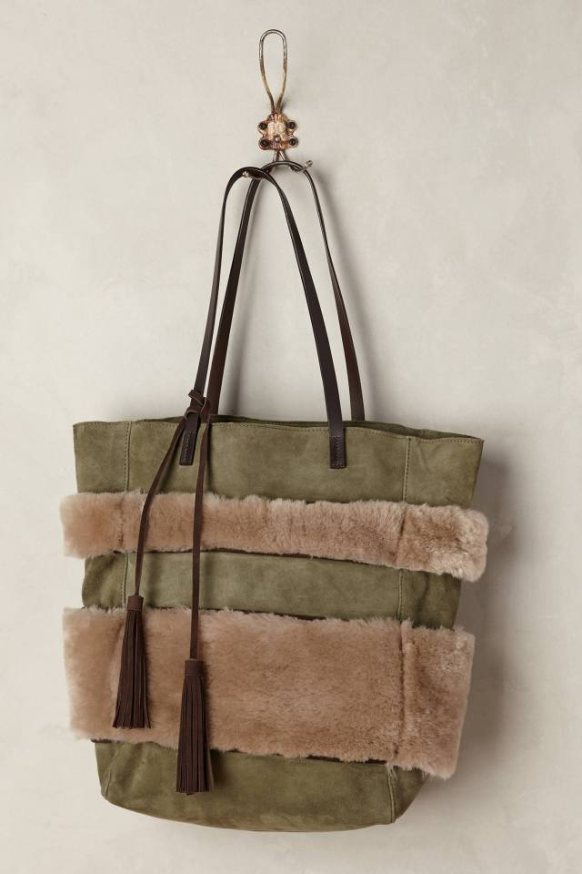 Shearling Stripe Tote by Holding Horses
