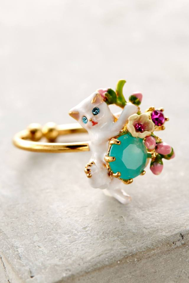 Le Chat Blanc Ring by Les Nereides