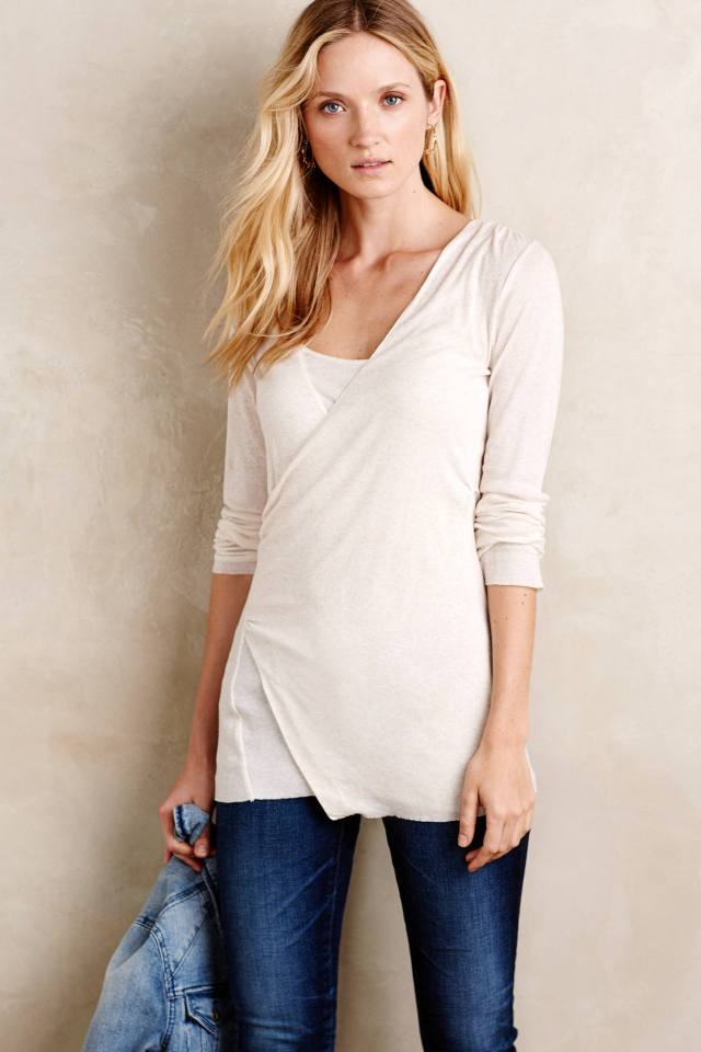 Surplice Layering Tee by Suss