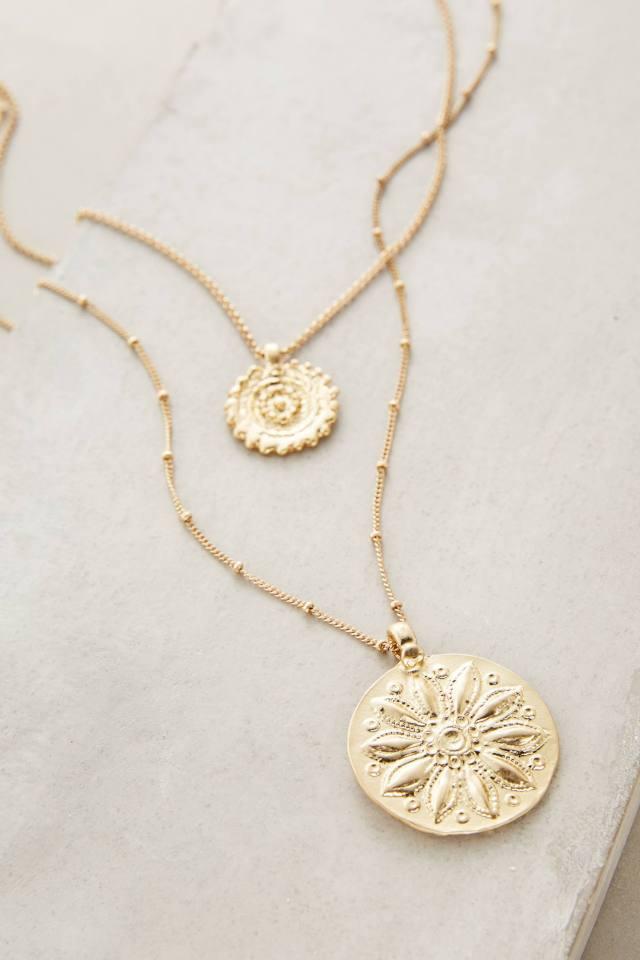 Layered Emblem Necklace