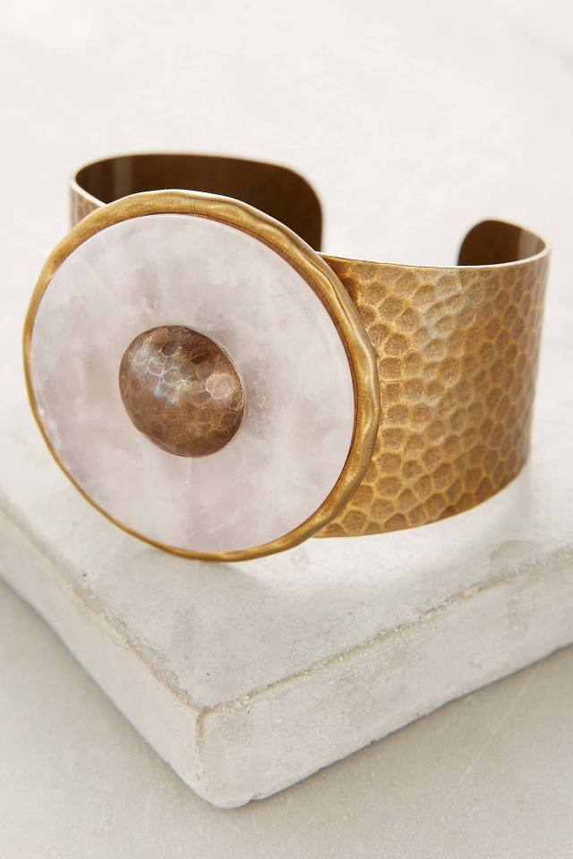Rose Quartz Cuff by Jan Michaels