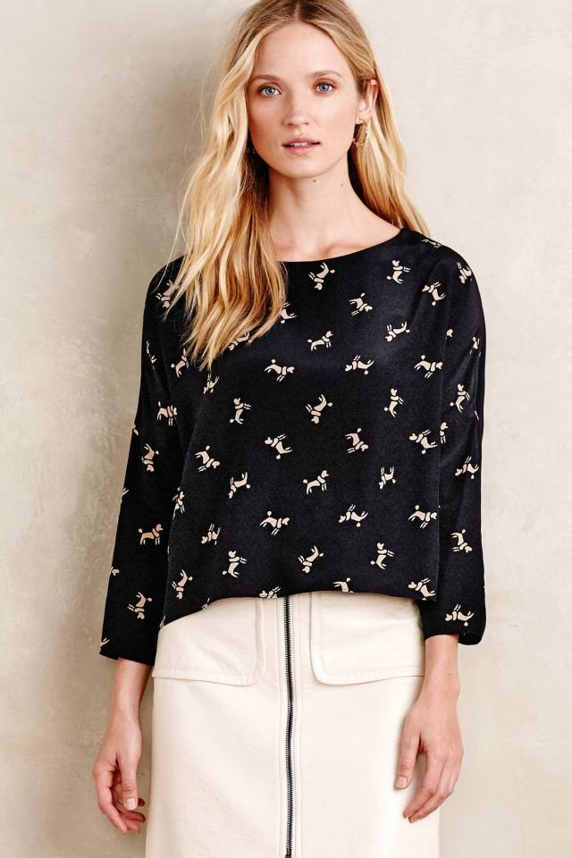 Playful Poodle Blouse by Hoss Intropia