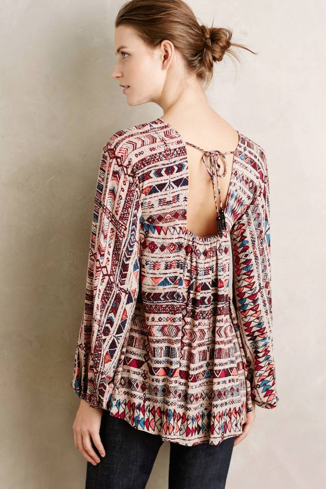 Nika Tie-Back Blouse by Plenty by Tracy Reese