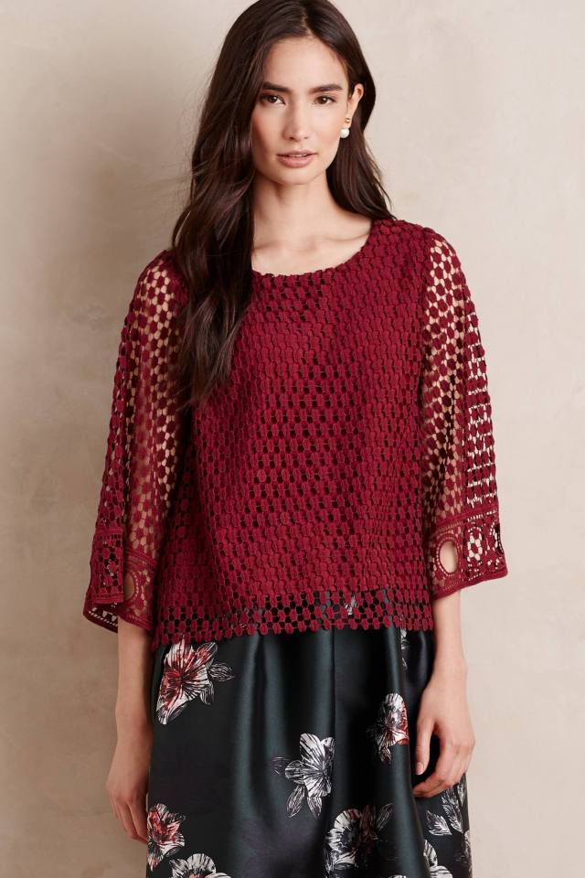 Wine Country Blouse by Vanessa Virginia