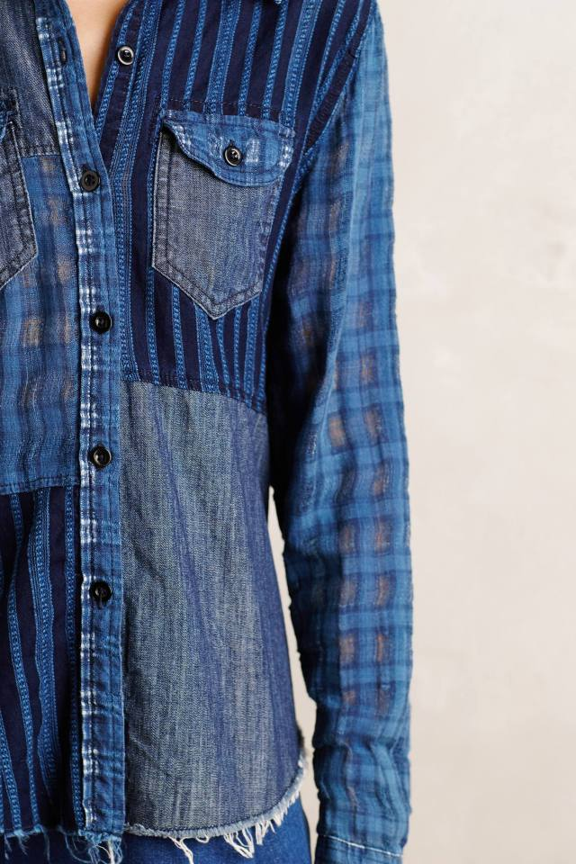Patchwork Plaid Buttondown by Artisan De Luxe