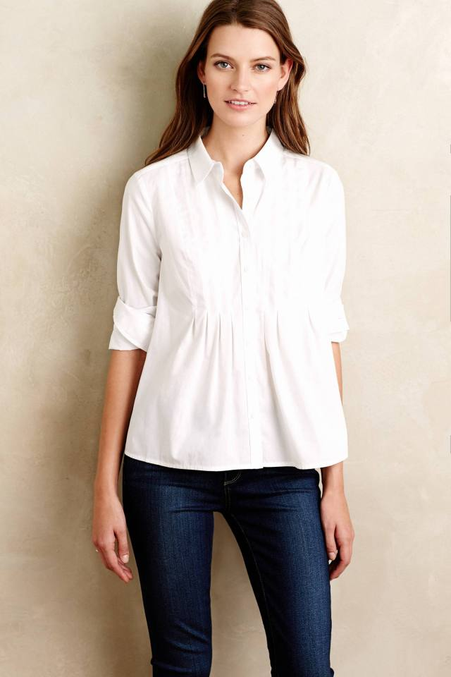 Pleated Sutton Buttondown by Maeve