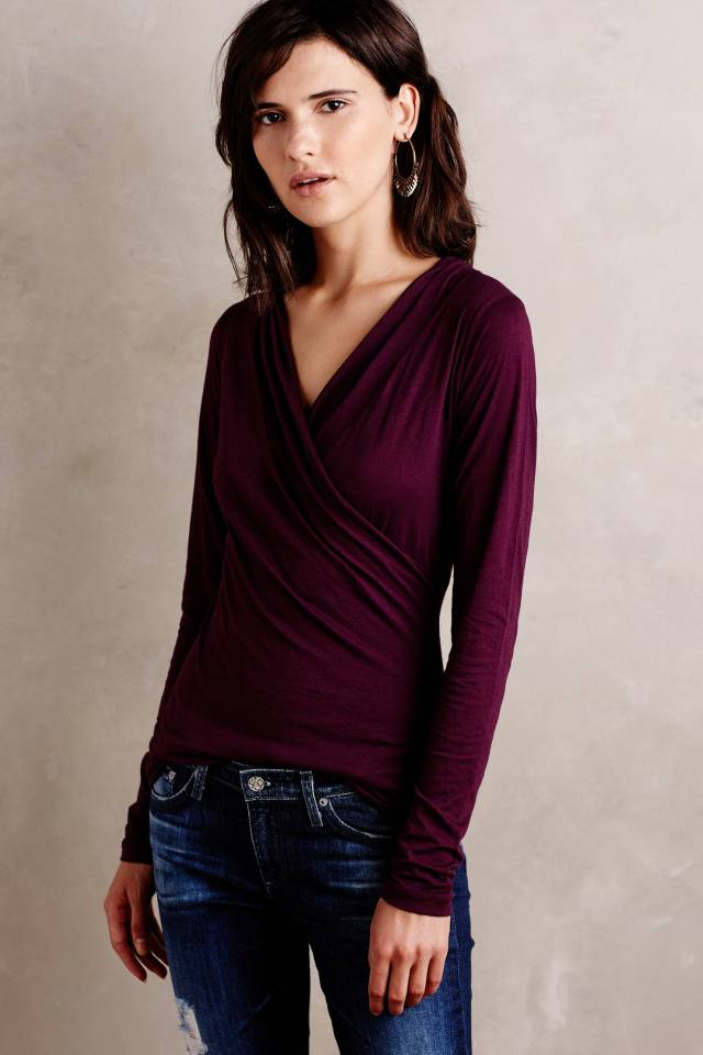 Crossfront Tee by Velvet by Graham and Spencer