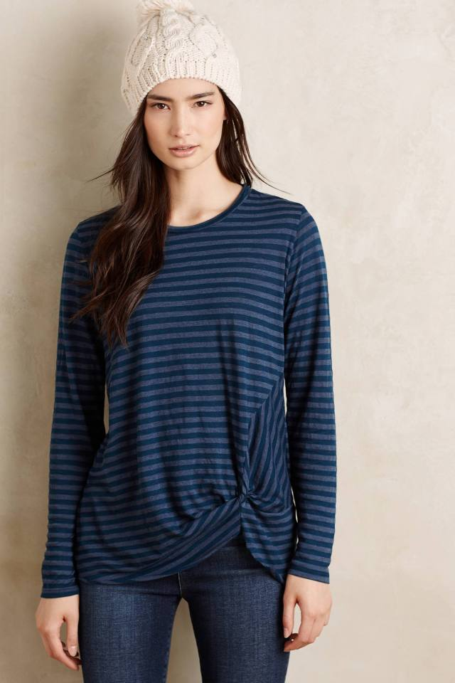 Gathered Knit Tee by Stateside