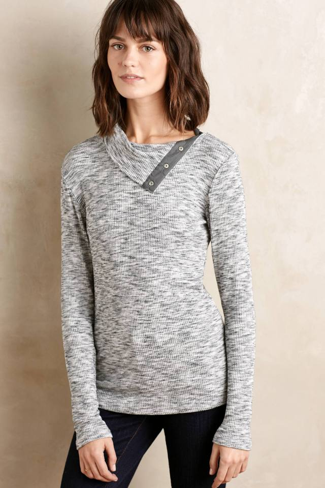 Snap-Neck Pullover by Dolan Left Coast