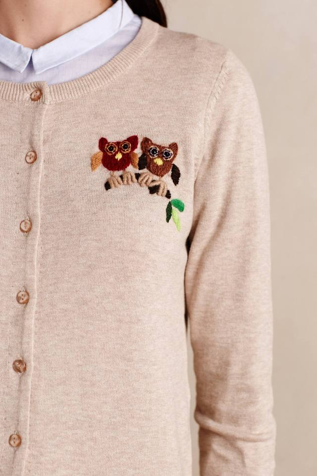 Owl Perch Cardigan by Tabitha