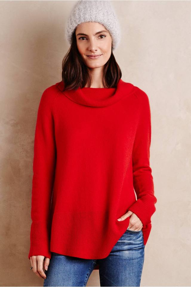 Cowled Cashmere Tunic by Moth