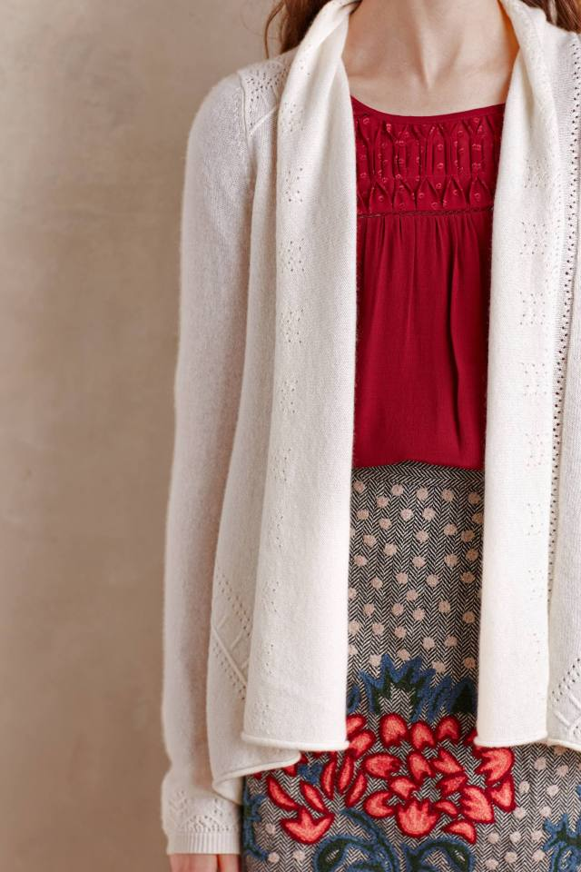 Cashmere Pointelle Cardigan by Knitted & Knotted