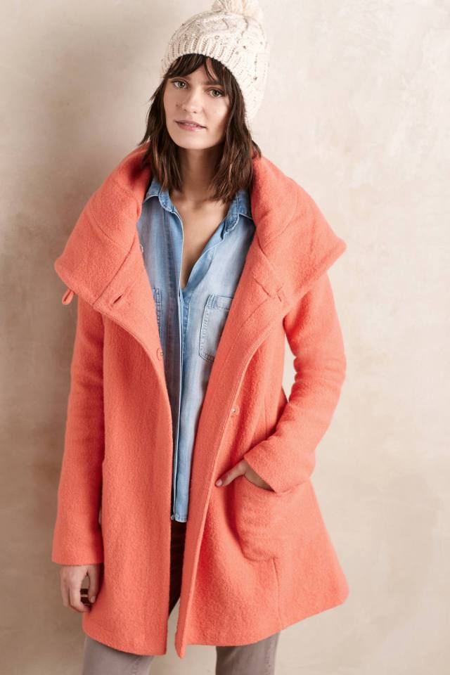 Boiled Wool Sweater Coat by Moth